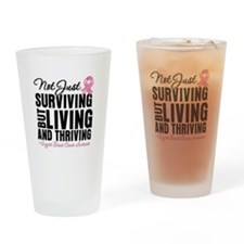 Thriving - Breast Cancer Drinking Glass