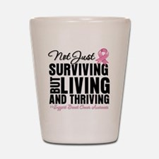 Thriving - Breast Cancer Shot Glass