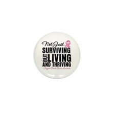 Thriving - Breast Cancer Mini Button (10 pack)