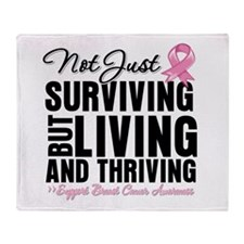 Thriving - Breast Cancer Throw Blanket
