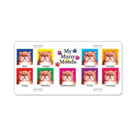 Many Moods Aluminum License Plate