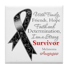 Melanoma Strong Survivor Tile Coaster