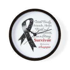 Melanoma Strong Survivor Wall Clock