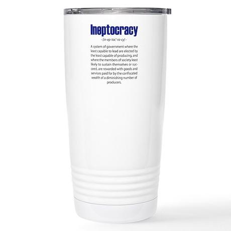 Ineptocracy Stainless Steel Travel Mug