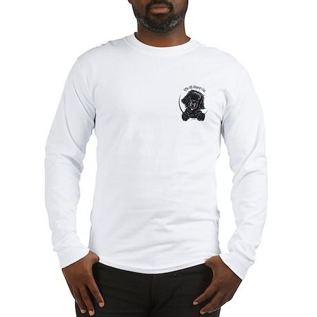 Black Newfie IAAM Pocket Long Sleeve T-Shirt