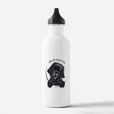 Black Newfie IAAM Water Bottle