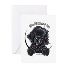 Black Newfie IAAM Greeting Card