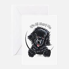 Black Newfie IAAM Greeting Card