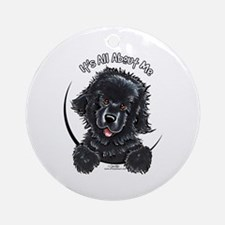 Black Newfie IAAM Ornament (Round)