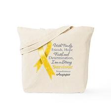 Neuroblastoma Strong Survivor Tote Bag