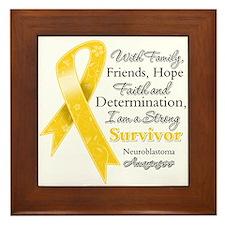 Neuroblastoma Strong Survivor Framed Tile