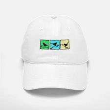 Bird Grunge Silhouette Baseball Baseball Cap