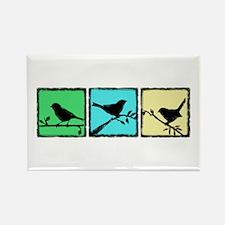 Bird Grunge Silhouette Rectangle Magnet