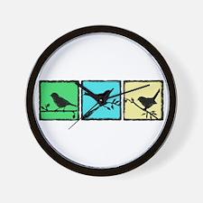 Bird Grunge Silhouette Wall Clock
