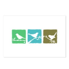 Bird Grunge Silhouette Postcards (Package of 8)