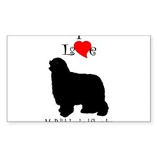 Polish Lowland Sheepdog Rectangle Decal