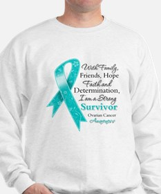 Ovarian Cancer Strong Survivor Sweatshirt