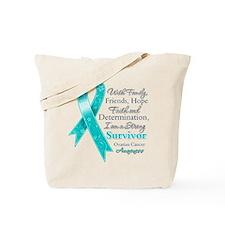 Ovarian Cancer Strong Survivor Tote Bag