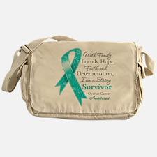 Ovarian Cancer Strong Survivor Messenger Bag