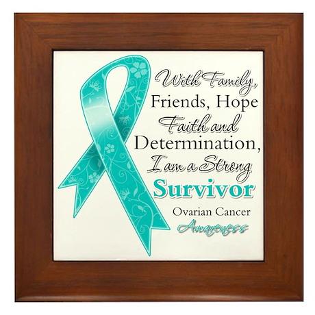 Ovarian Cancer Strong Survivor Framed Tile