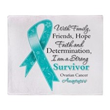 Ovarian Cancer Strong Survivor Throw Blanket