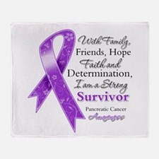 Strong Pancreatic Cancer Throw Blanket