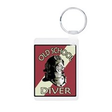 OLD SCHOOL DIVER.psd Keychains