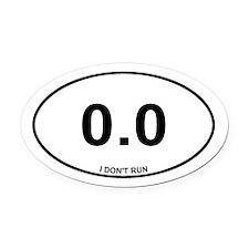 Non Runner Oval Car Magnet