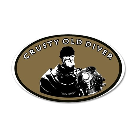 CRUSTY OLD DIVER 20x12 Oval Wall Decal