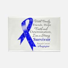 Rectal Cancer Strong Survivor Rectangle Magnet