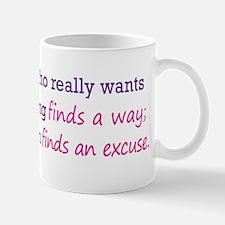 No Excuses (color) Mug