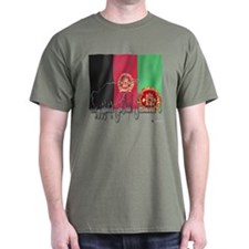 Flag of Afghanistan (Pashto) T-Shirt