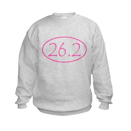 marathon shirt-pink.png Kids Sweatshirt