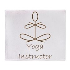 Yoga Instructor Brown.png Throw Blanket