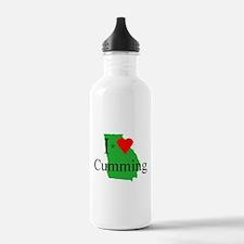 I Love Cumming Water Bottle