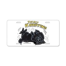 Black Newfie Totally Hairifying Aluminum License P