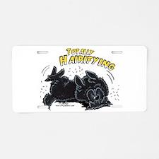 Black Newfie Totally Hairifying Aluminum License P