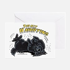Black Newfie Totally Hairifying Greeting Card