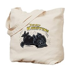 Black Newfie Totally Hairifying Tote Bag