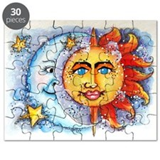 Celestial Sun and Moon Puzzle