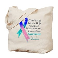 Thyroid Cancer Strong Survivor Tote Bag