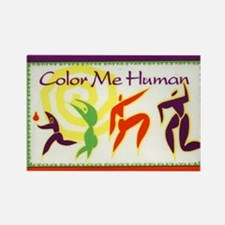 Color Me Human Rectangle Magnet