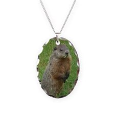 Woodchuck eating Necklace