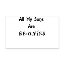 All My Sons Are Bronies Rectangle Car Magnet