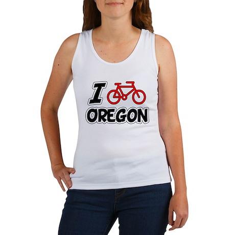 I Love Cycling Oregon Women's Tank Top