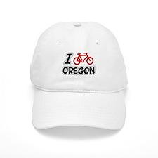I Love Cycling Oregon Baseball Cap