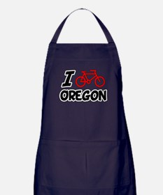 I Love Cycling Oregon Apron (dark)