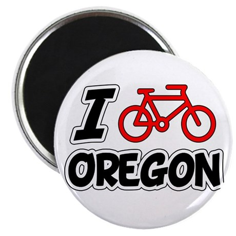I Love Cycling Oregon Magnet