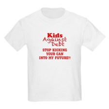 Red, Kicking Can into Future T-Shirt