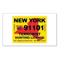 terrorist-hunting-license-NY.png Decal